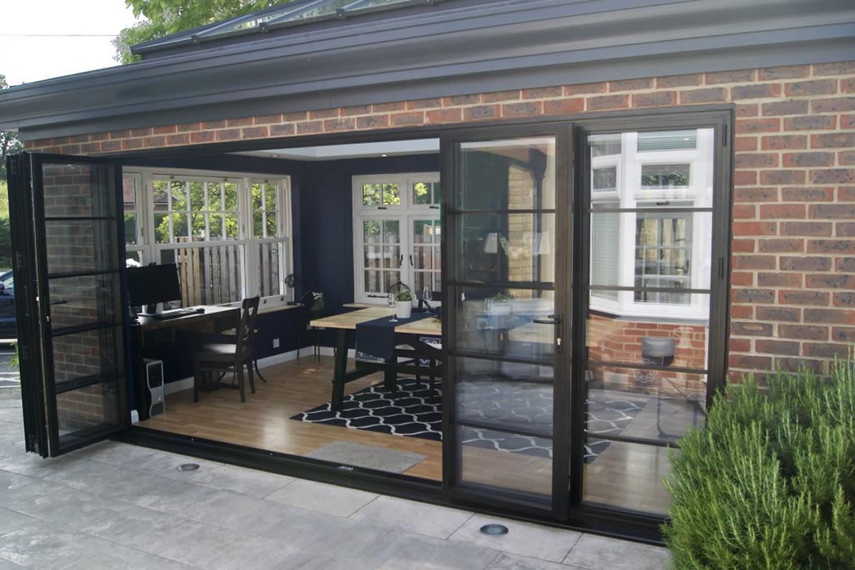 Aluminium Sliding Doors Slim Aluminium Bifold Doors